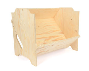 Présentoir bois assemblé