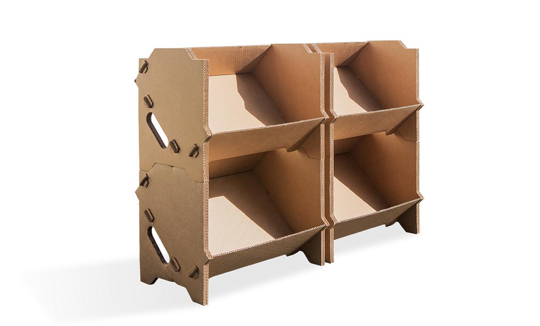 pr sentoir carton izzibox pour professionnel et particulier. Black Bedroom Furniture Sets. Home Design Ideas