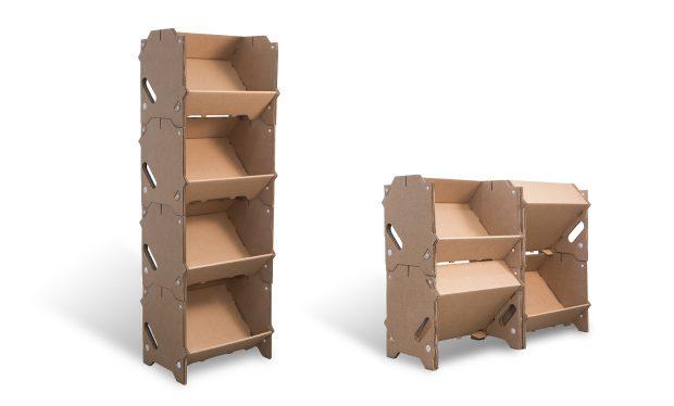 Présentoir en carton modulable