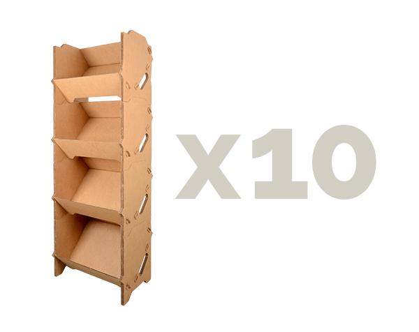 rayonnage GMS x10 caisses carton