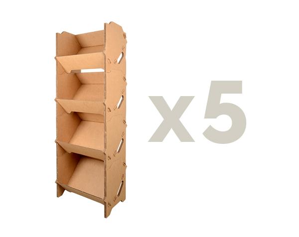 gondole x5 caisses carton
