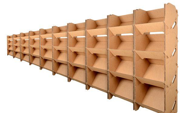 rayonnage carton, lot de 10 kits