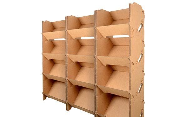 rayonnage carton, lot de 3 kits