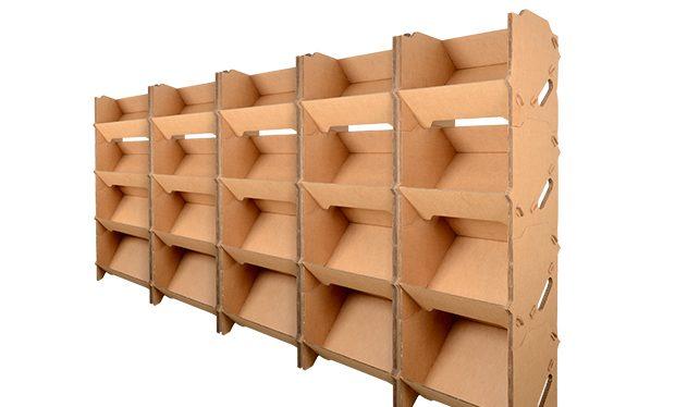 rayonnage carton, lot de 5 kits