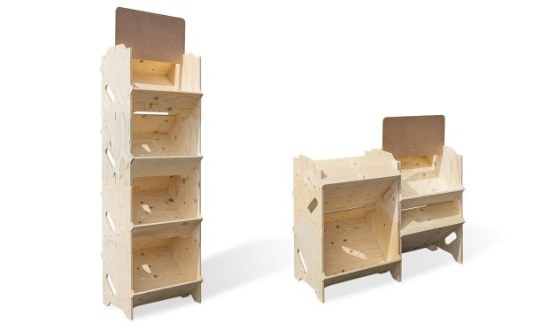 Présentoir bois modulable
