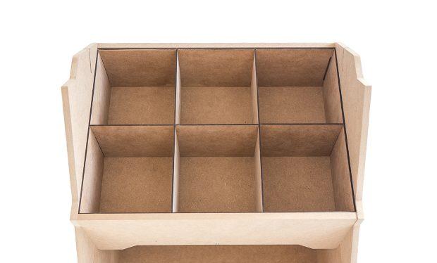Casiers de rangement Izzibox pour nos présentoirs bois ou carton