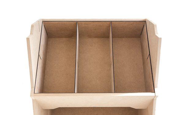 Des casiers de rangements modulables pour nos présentoirs bois