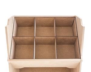 Casier de rangement pour présentoir bois Izzibox