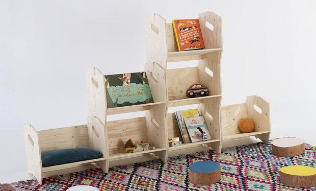 Aménagez une chambre d'enfant avec notre étagère bibliothèque en bois