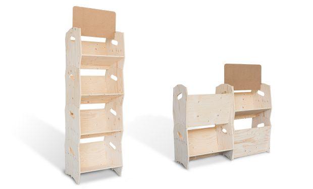 Étagère bibliothèque en bois, modulable