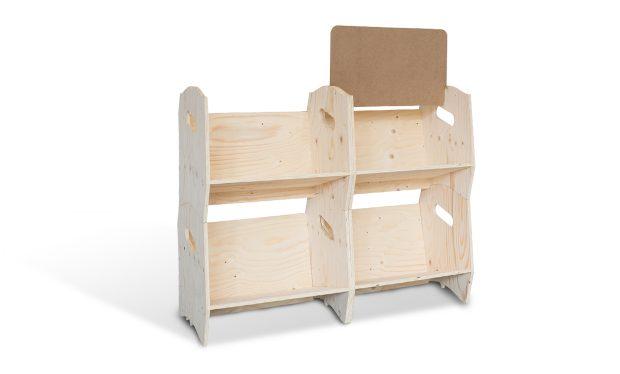 Étagère bibliothèque en bois izzibook
