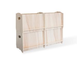 Boîte rangement bois
