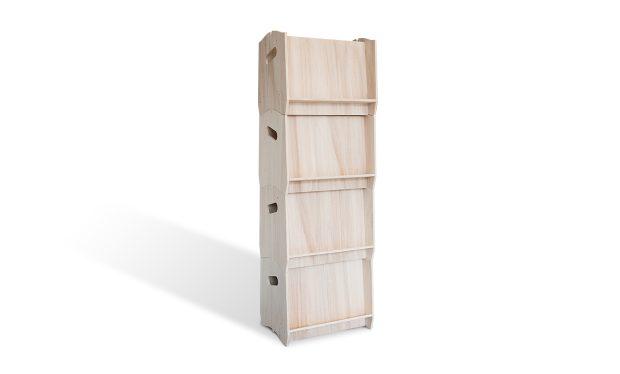 Colonne présentoir porte-documents en bois IZZIDOC