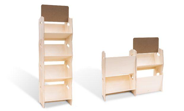 Etagère bois design modulable