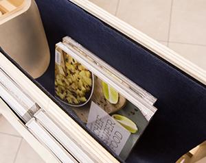 Un espace de stockage discret pour votre display IZZIDOC